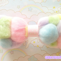 Fairy Kei Kawaii Pompom Bow