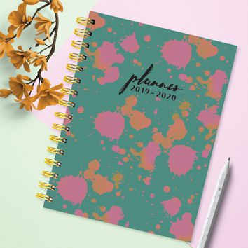 Paint Spots Medium Academic Weekly/Monthly Planner
