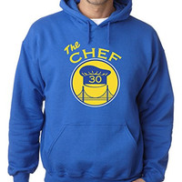 """Steph Curry Golden State Warriors """"The Chef"""" Hooded Sweatshirt ADULT MEDIUM"""