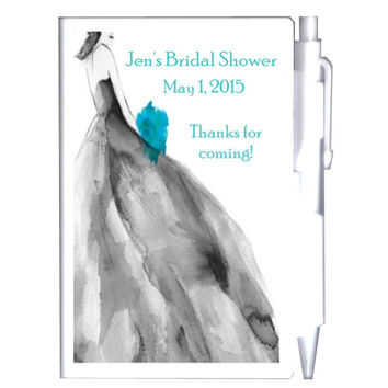 Black and Tiffany Bridal Shower Notebook Favors