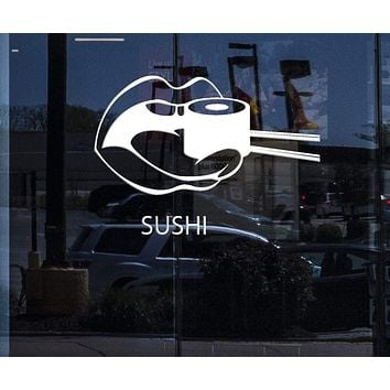 Window and Wall Decal Sushi Food Japan Oriental Restaurant Vinyl Stickers Art Mural Unique Gift (ig2574w)