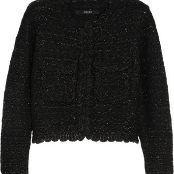Sibling - Metallic wool-blend bouclé jacket