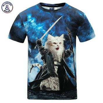 Mr.1991INC Cats T-shirt Men/Women 3d Print Meow Star Cat Hip Hop Cartoon TShirts Summer Tops Tees Fashion 3d shirts