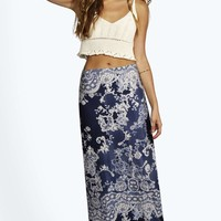 Darcy Lace and Floral Print Maxi Skirt