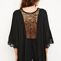 Pins & Needles Lace Trim Square Cut Top at Urban Outfitters