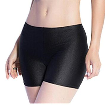 2016 New Fashion Women Safety Short Pants Spandex Women Flat Tiered Underwear Middle Waist Seamless Shorts Underpants Female