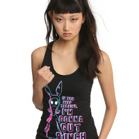 Bob's Burgers Gut Punch Louise Belcher Girls Tank Top