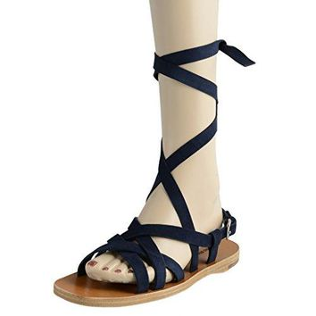 Miu Miu Women's Suede Strappy Open Toe Sandals Shoes