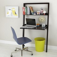 Kids' Desk: Kids Chocolate Leaning Wall Desk in Desks & Chairs | The Land of Nod