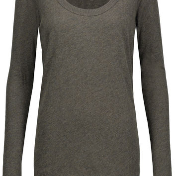 Marled cotton and cashmere-blend top | ENZA COSTA | US | THE OUTNET