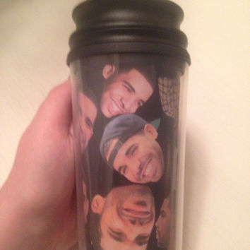 Drizzy Drake Head Travel Coffee Mug Cup