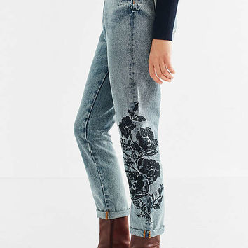BDG Mom Jean - Floral Embroidered | Urban Outfitters