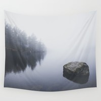 Morning blues Wall Tapestry by HappyMelvin
