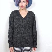 90s Minimalist Salt and Pepper Silk Blend Sweater (S/M) from Honey Moon Muse