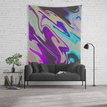Tear Blinded Eyes Wall Tapestry by duckyb