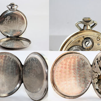 Vintage Chronometre Corgemont Pocket Watch Silver Case