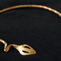 Hand-Forged brass neck torc