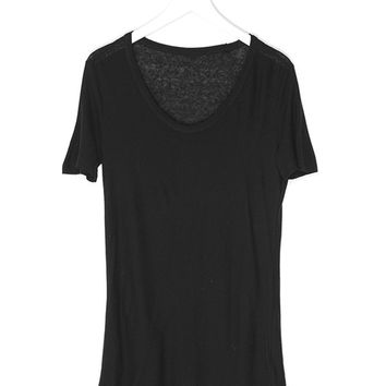 Deep U-Neck Tee Shirt