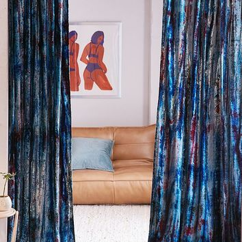 Eden Tie-Dyed Velvet Window Curtain | Urban Outfitters