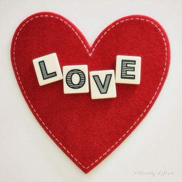 heart, love, typography, red, white, fine art photography
