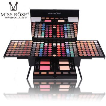 Miss Rose piano makeup set matte eyeshadow palette nude shimmer eye shadow pigment with brush mirror in box