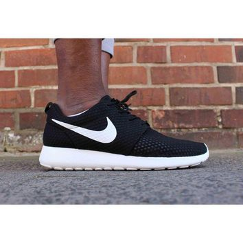 NIKE ROSHE Women fashion sneaker sports shoes honeycomb black-white hook H-MDTY-SHININ