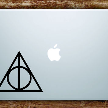 Harry Potter Deathly Hallows Laptop Apple Macbook Quote Wall Decal Sticker Art Vinyl Movie Wizard