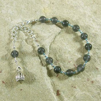 Morpheus Prayer Bead Bracelet in Iolite: Greek God of Dreams