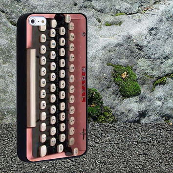 Ttypewriter pink Case for iPhone 4/4s,iPhone 5/5s/5c,Samsung Galaxy S3/s4 plastic & Rubber case, iPhone Cover