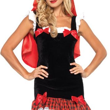 Atomic Seductive Little Red Riding Hood Inspired Costume