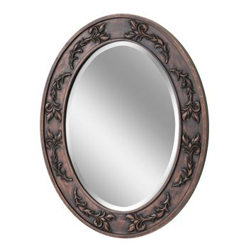 Classic Scroll Oval Wall Mirror (1049) - Illuminada