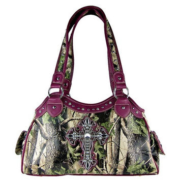 Camo Cross Rhinestone Handbag