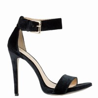 RIHANNA FOR RIVER ISLAND VELVET ANKLE STRAP STILETTOS - WOMEN - SALE - RIHANNA FOR RIVER ISLAND