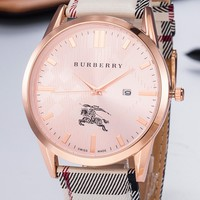 Burberry 2019 new wild fashion men and women waterproof quartz watch #1