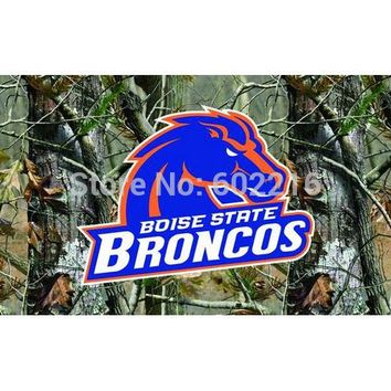 Boise State Broncos Camo College Large Outdoor Flag 3ft x 5ft Football Hockey Baseball USA Flag