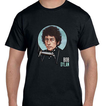 Bob Dylan Smokers Fan Art Cover  Mens T Shirt
