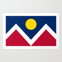 Denver (Colorado) city flag - Authentic version Art Print by LonestarDesigns2020 - Flags Designs +