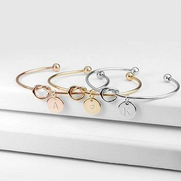Letter Knot Cuff