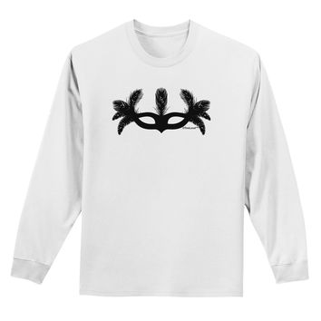Masquerade Mask Silhouette Adult Long Sleeve Shirt by TooLoud