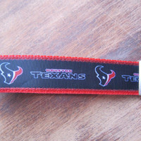 Houston Texans Keychain Wristlet by SweetKeeps on Etsy