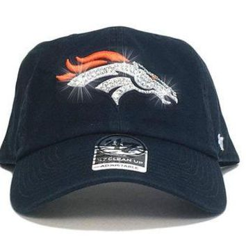 DCCKH9D Denver Broncos '47 Brand Adjustable Cap + Custom Swarovski Crystals