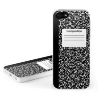 Composition Notebook Design Clip on Hard Case Cover for Apple iPhone 5 / 5S Cell Phone