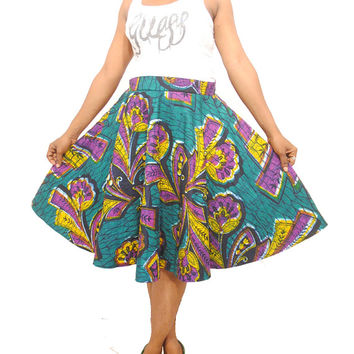 XMAS SALE - Ankara - African Print Full Circled Skirt - ankara clothing - Ankara Skirt - african clothing styles