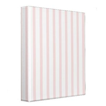 Pink and White Stripes 3 Ring Binder from Zazzle.com