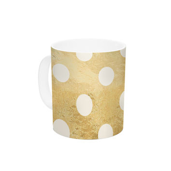 "KESS Original ""Scattered White"" Ceramic Coffee Mug"