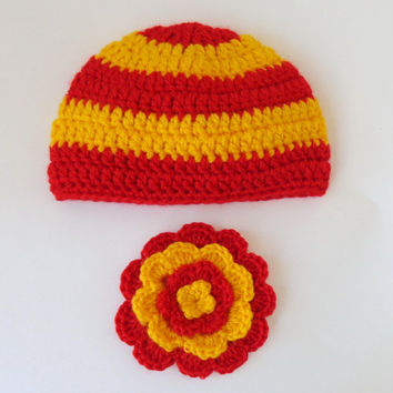 Harry Potter Hat with Bow Gryffindor,  Beanie Newborn Child Teen  Adult - Halloween / Cosplay / Baby Shower Gift