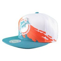 Mitchell & Ness Mitchell & Ness NFL Miami Dolphins Paintbrush Wool Snapback Hat Hats