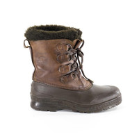 Sorel Boots Vintage Leather Rain Winter Snow Boots  Womens Size 9
