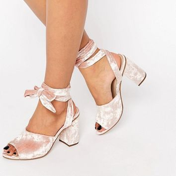 ASOS HITCH A RIDE Lace Up Mules at asos.com