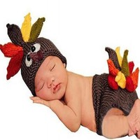 Turkey Thanksgiving Baby Hat Outfit Fall Autumn photo prop - CCC213